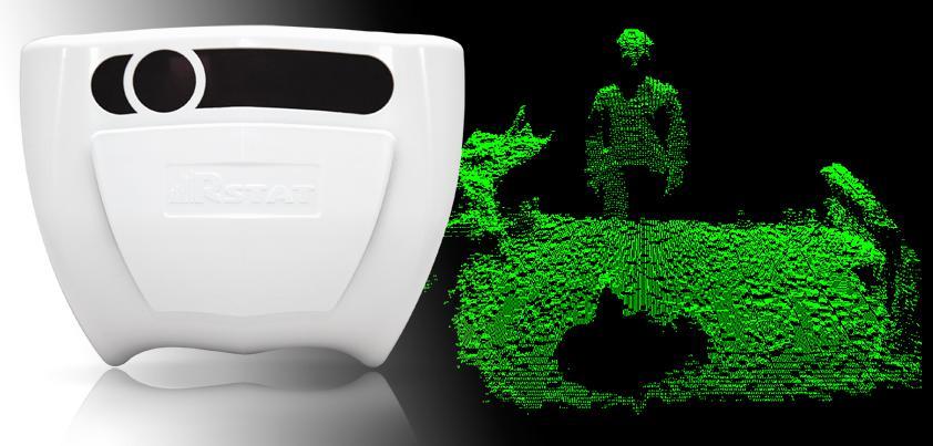Революционная разработка в области систем подсчета посетителей — вертикальный сенсор Rstat Real-3D.